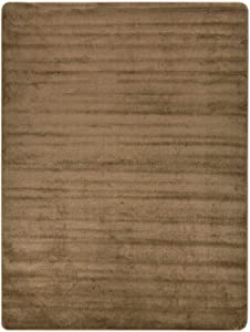 """Euro Collection Solid Color Area Rug Rugs Slip Skid Resistant Rubber Backing Machine Washable More Color Options (Beige, 3'3"""" x 4'11"""")"""