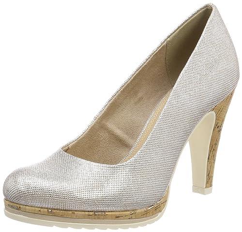 Marco Tozzi 22401, Zapatos de Tacón para Mujer, Gris (Lt.Grey St.Pat), 38 EU