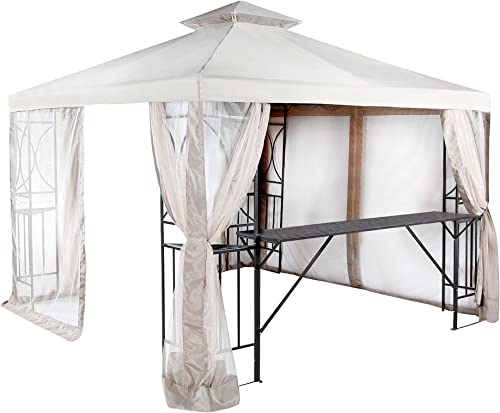 Garden Winds Replacement Canopy Top Cover for the 10×10 Crescent Gazebo – RipLock 350