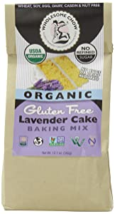 Wholesome Chow Organic Gluten Free Cake Mix, Lavender, 12.1 Ounce