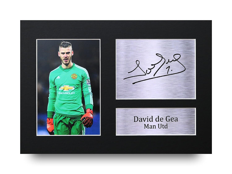 HWC Trading David De GEA Geschenke Unterzeichneten A4 Gedrucktes Autogramm Manchester United Man Utd Druck-Foto-Bilderanzeige
