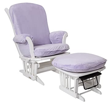 Luxe Basics Cover Me Glider Chair Cover (Chair NOT Included), Lavender