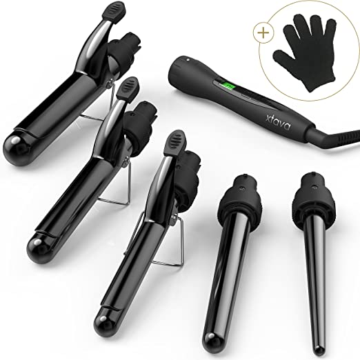 Xtava Satin Wave 5-in-1 Curling Iron and Wand Set Review