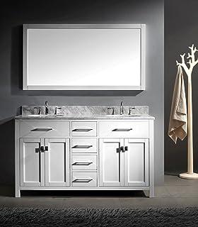 virtu usa caroline 60inch bathroom vanity with