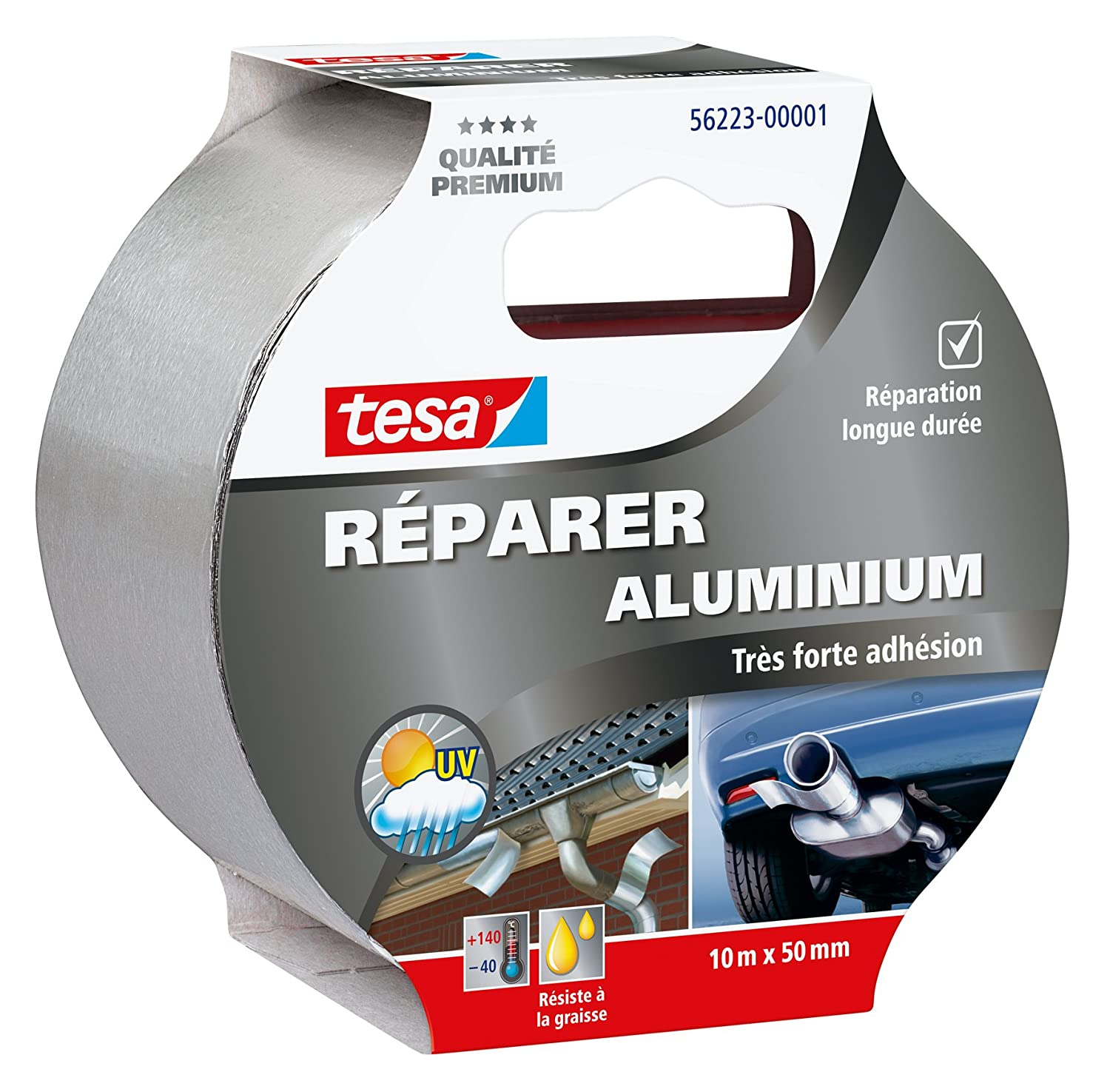 tesa Ré parer Aluminium'Aluminium Repair' 56223-00001-01 Repair Tape Very Strong Adhesion 10 m x 50 mm 4042448131584