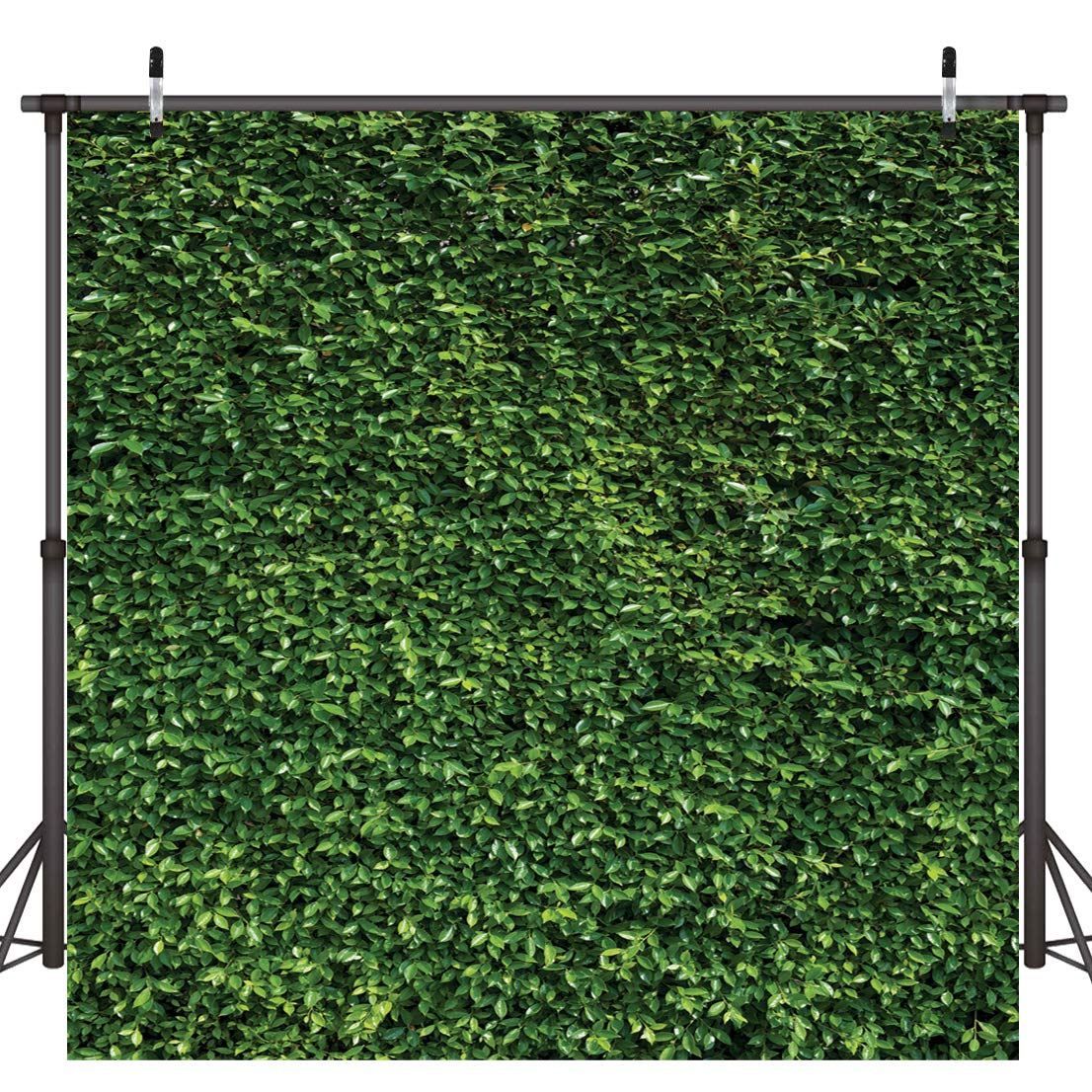 Dudaacvt 10x10FT Nature Green Leaves Backdrops Photography Wedding or Children Birthday Background Studio Props D058