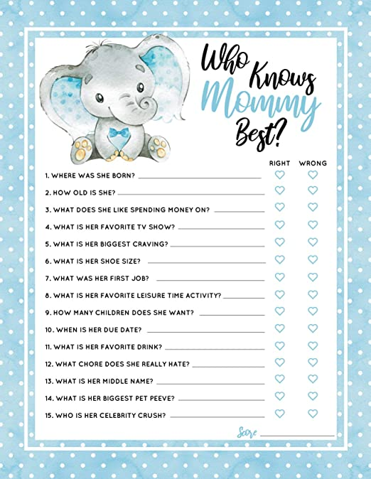 Baby Shower Game Book 10 Games Gender Reveal Baby Party NEW