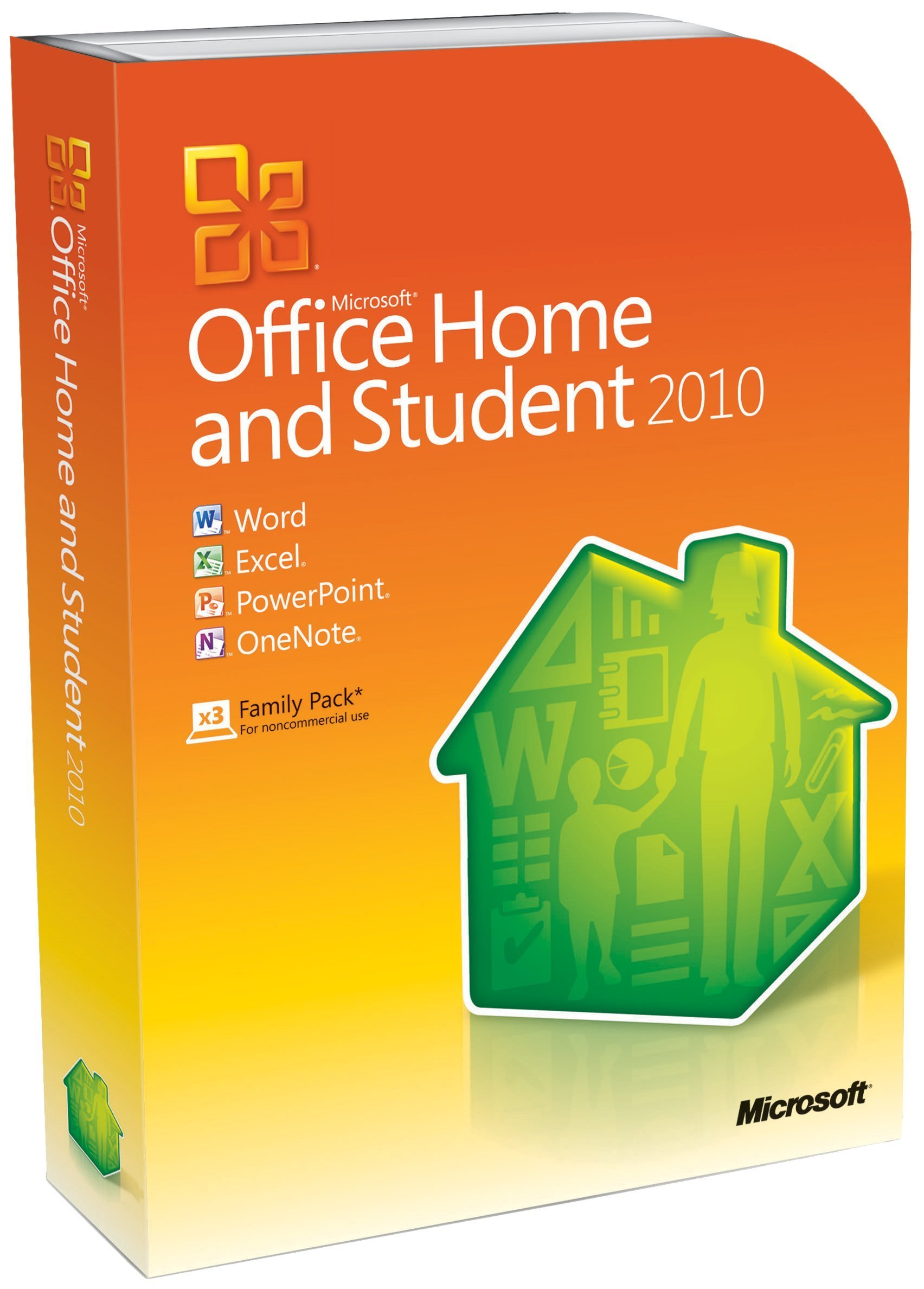 Microsoft Office Home and Student 2010 Family Pack, 3PC (Disc Version) by Microsoft