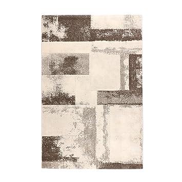 Tapis Moderne Style Vintage   Couleurs: Gris Et Beige | Fibre Synthétique  Résistante Et Facile