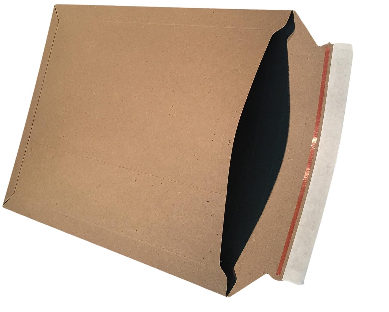 50pochettes d'expédition en carton 250x 353mm Convient pour format: A4+ plein Pochettes Enveloppes Marron en carton de dimapax