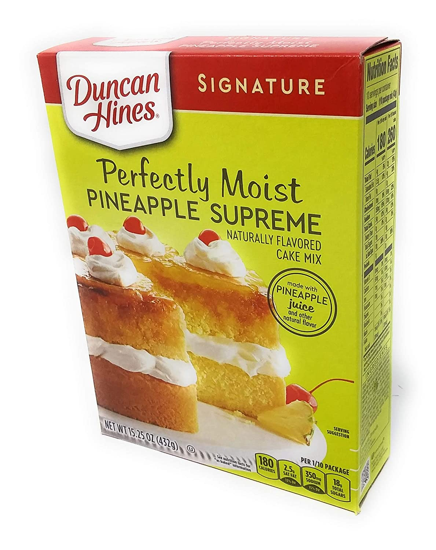 Duncan Hines Signature Pineapple Supreme Cake Mix (4 Pack)