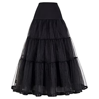 GRACE KARIN Women's Ankle Length Petticoats Wedding Slips Plus Size S-3X at Women's Clothing store