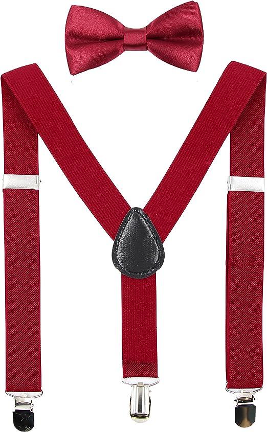 Sus-M3** Red Color Suspenders For Men /& Big Boys