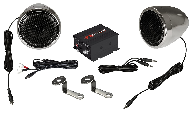 Renegade RXA100C Powersports Sound System Renegade Mobile Audio Chrome Set of 2