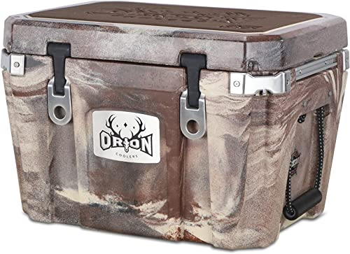 Orion Heavy Duty Premium Cooler 35 Quart, Desert , Durable Insulated Outdoor Ice Chest for Maximum Cold Retention – Portable, Bear Resistant, and Long Lasting, Great for Hunting, Fishing, Camping