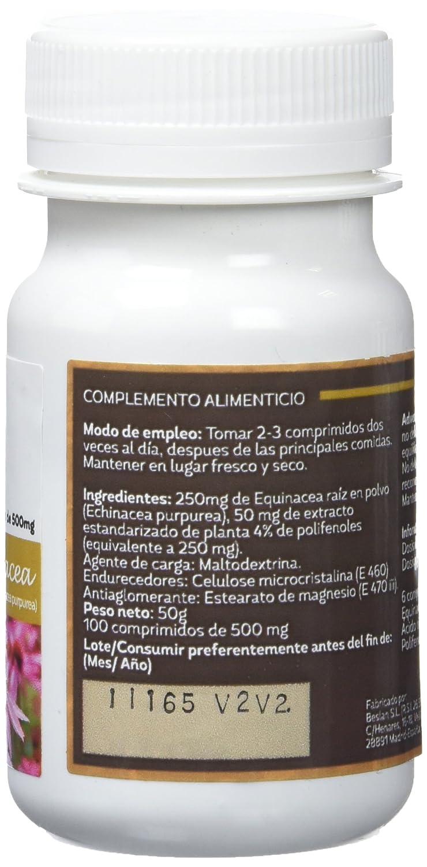 Sotya Equinácea, 100 Comprimidos, 500 mg: Amazon.es: Salud y cuidado personal