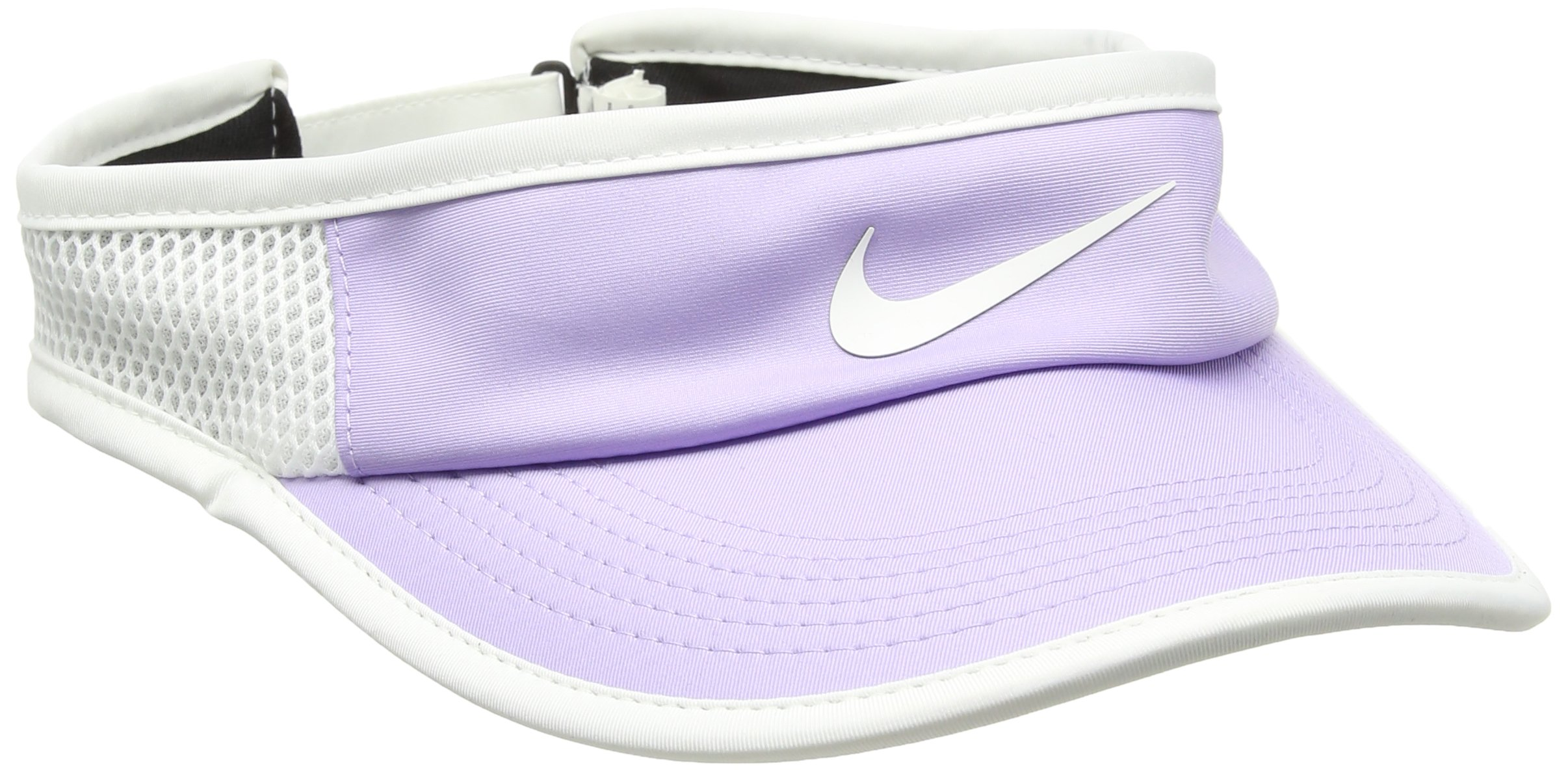 Nike Womens Aerobill Featherlight Adjustable Visor Hydrangeas/White/Black/White One Size