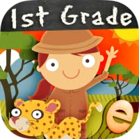 Animal Math First Grade Math Games for First Grade and Early Learners Premium First Grade Games for Kids in Kindergarten 1st 2nd Grade Learning Numbers, Counting, Addition and Subtraction