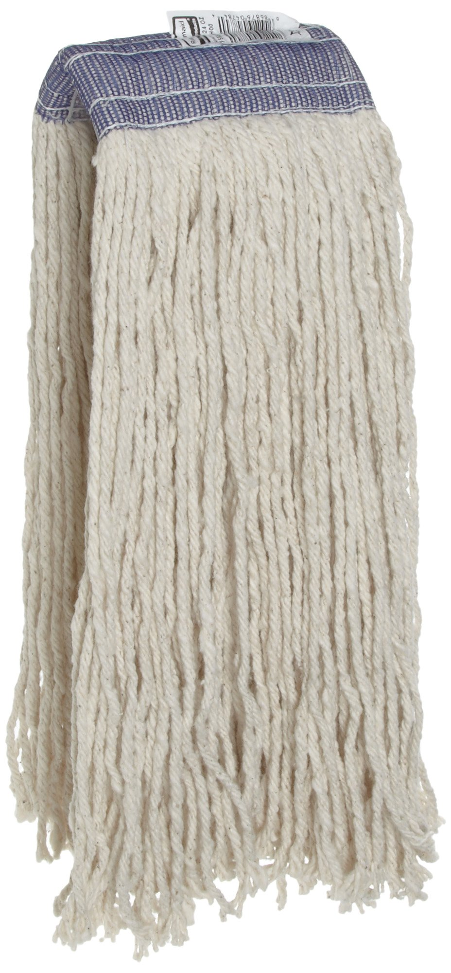 Rubbermaid Commercial FGF55800WH00 Premium 8-Ply Cut-End Blend Mop, 24-ounce, 5-inch White Headband