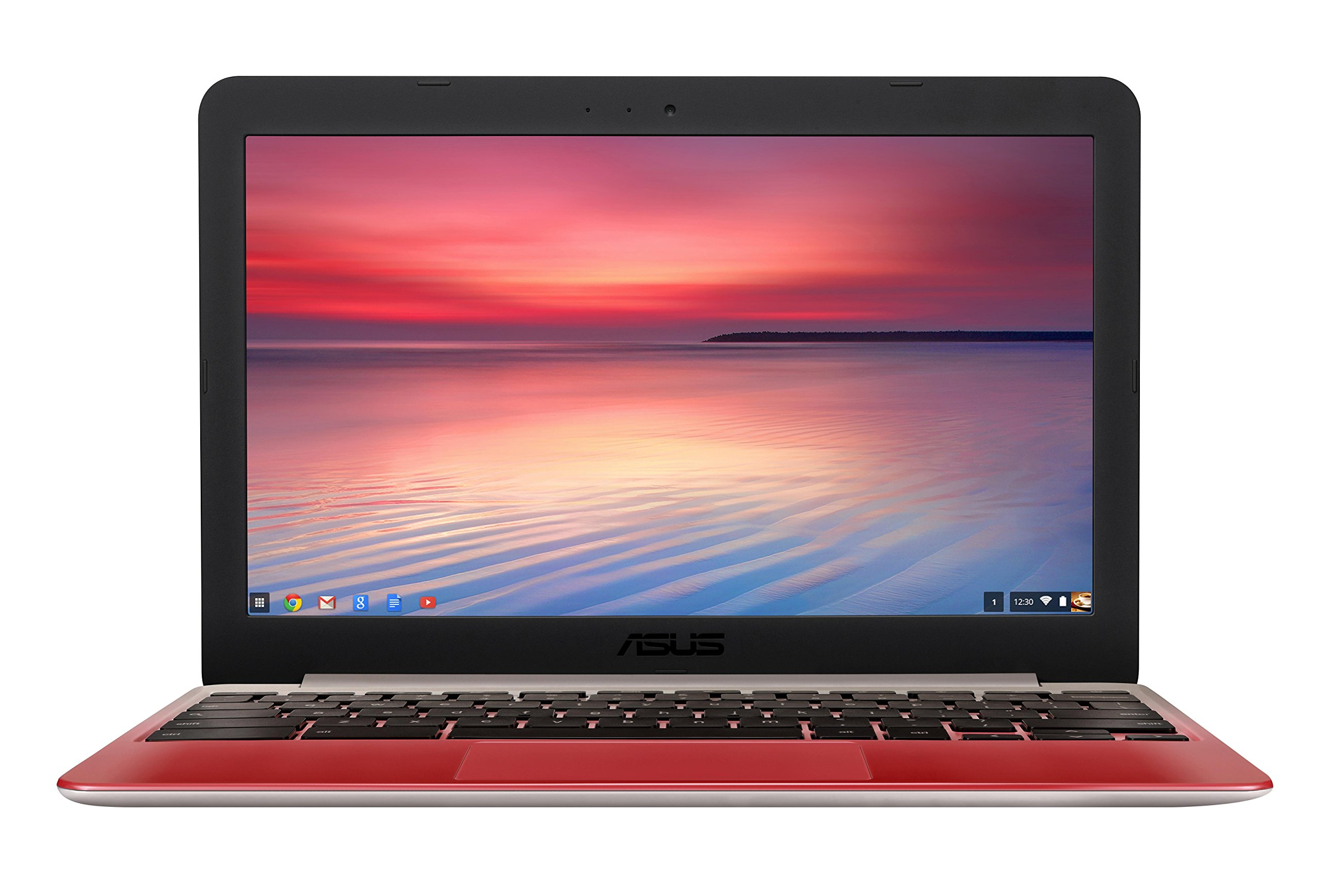 ASUS C201 11.6 Inch Chromebook (Rockchip, 4 GB, 16GB SSD, Lotus Gold/Red) by Asus