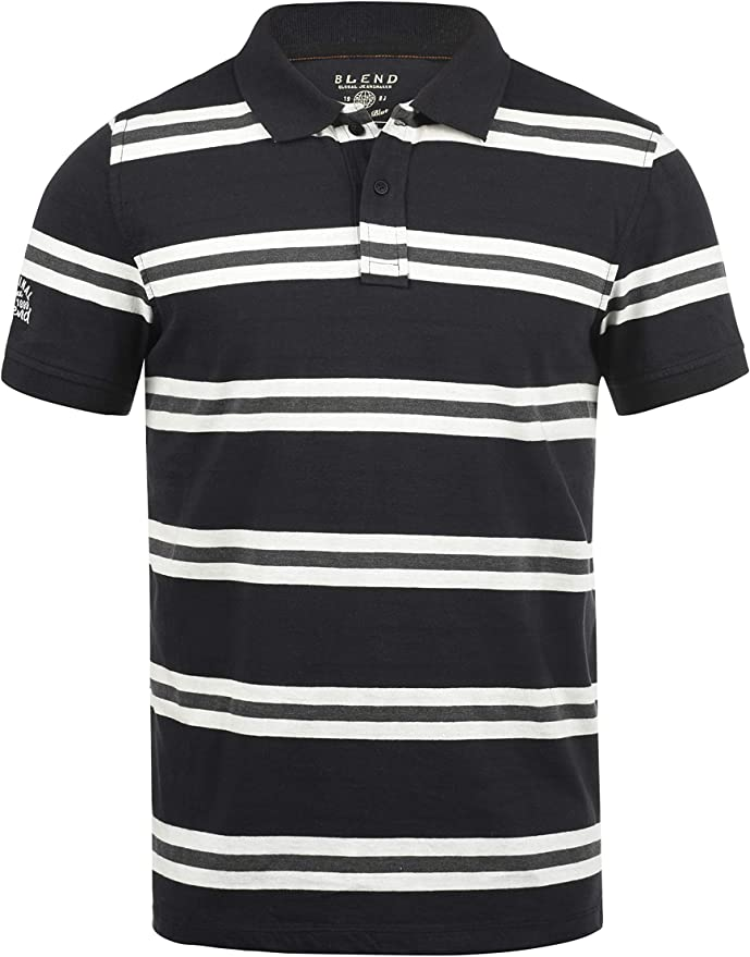 BLEND Pique Camiseta Polo De Manga Corta para Hombre con Cuello De Polo De 100% algodón: Amazon.es: Ropa y accesorios