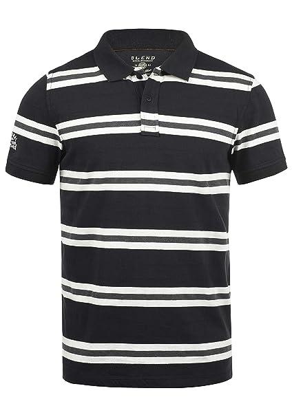 Blend Pique Camiseta Polo De Manga Corta para Hombre con Cuello De Polo De  100% Algodón  Amazon.es  Ropa y accesorios fa3786e095bf5