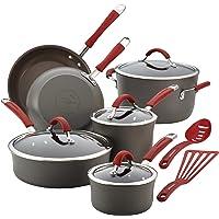 12-Piece Rachael Ray Cucina Hard Anodized Nonstick Cookware Set