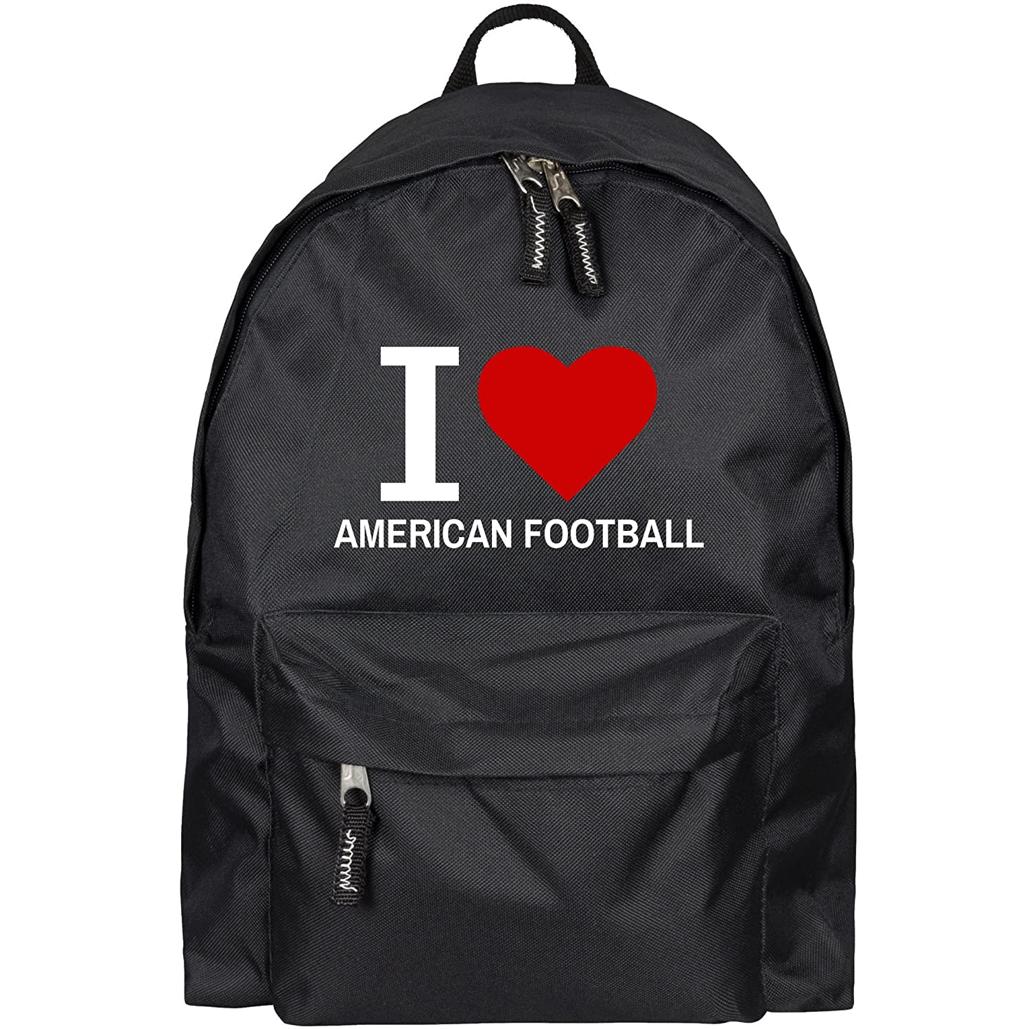 Sac /à dos classic i love football am/éricain noir
