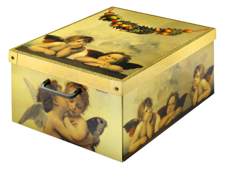 Kanguru Scatola in Cartone per sistemazione di Abiti, Vestiti, Armadio, casa. Contenitore portabiancheria salvaspazio 026 AMO contenitori; coperchio