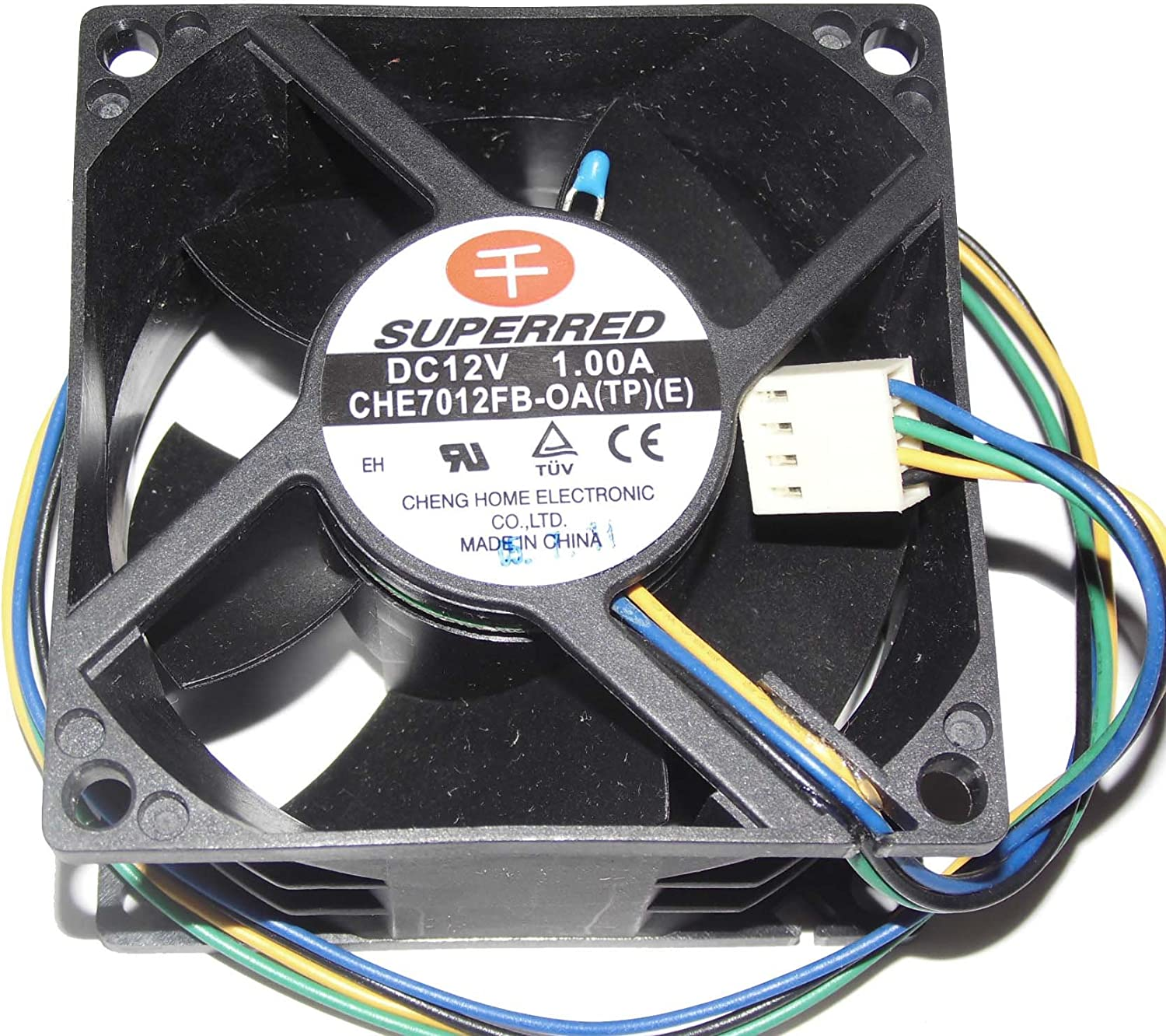 SUPERRED 7038 CHE7012FB-OA 12V 1.0A 4Wire Cooling Fan