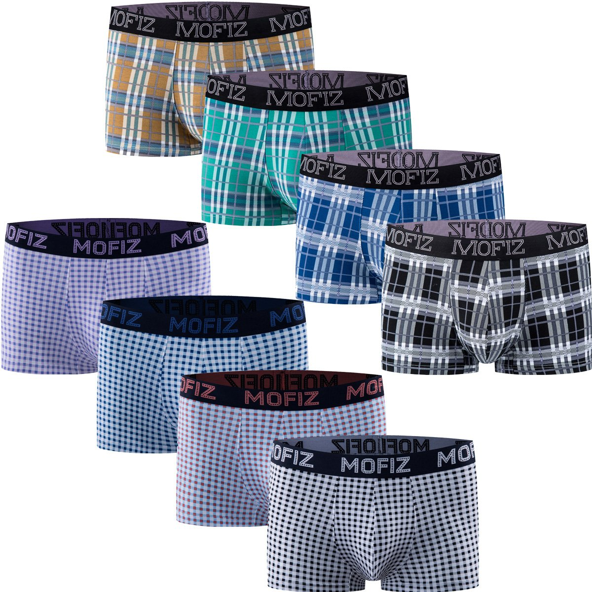 JINSHI Herren Trunks Komfortable Unterhose Mf-8pack