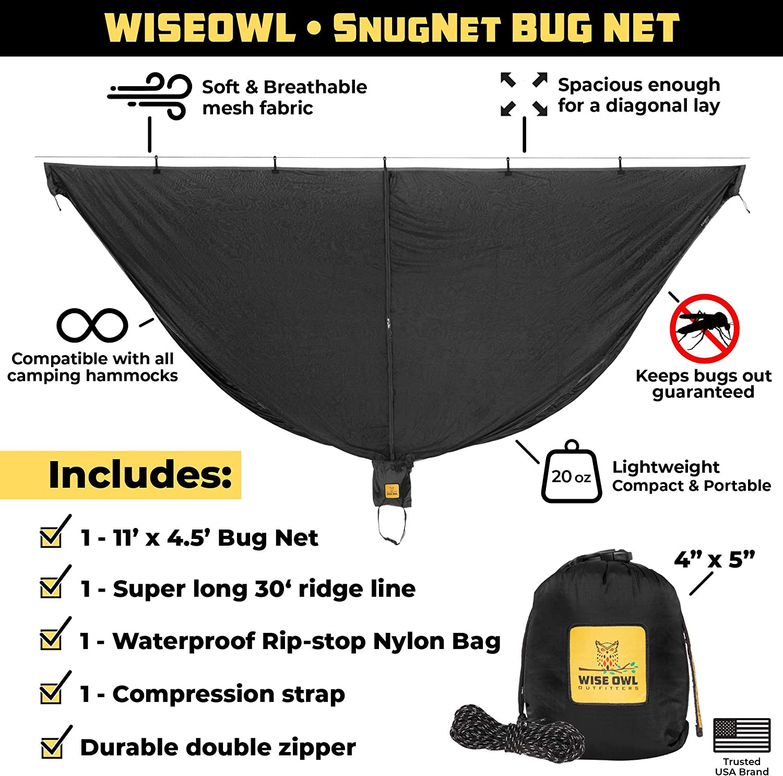 Proof Insect Screen Net Hammock Mosquito Net Gear Ultralight Bug Separate S8F2