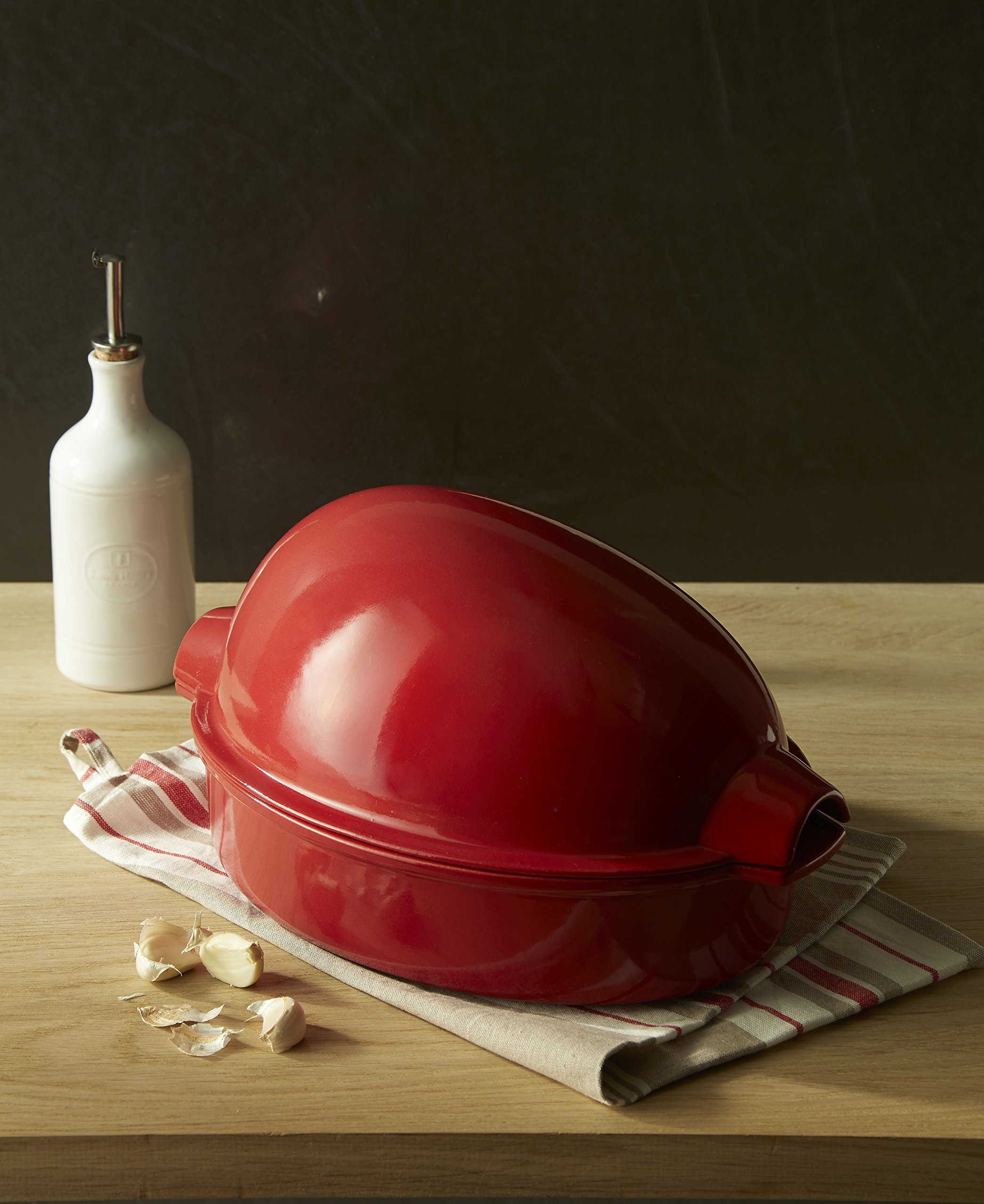 Emile Henry Made In France Chicken Baker, 13.5'' by 9.5'' by 7.5'', Burgundy Red by Emile Henry (Image #5)
