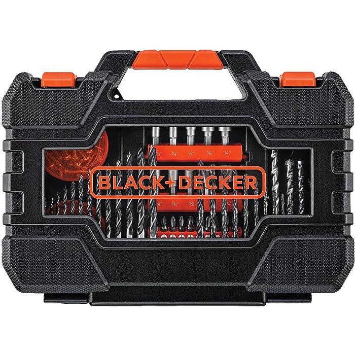 BLACK+DECKER BDA91132 132-Piece Screwdriver & Drill Bits Set