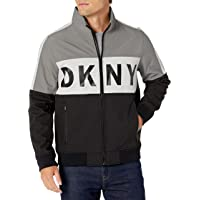 DKNY Men's Color Blocked Stand Collar Softshell Track Jacket