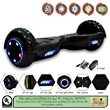"""NHT 6.5"""" Hoverboard Electric Self Balancing Scooter Sidelights - UL2272 Certified Black, Blue, Pink, Red, White"""
