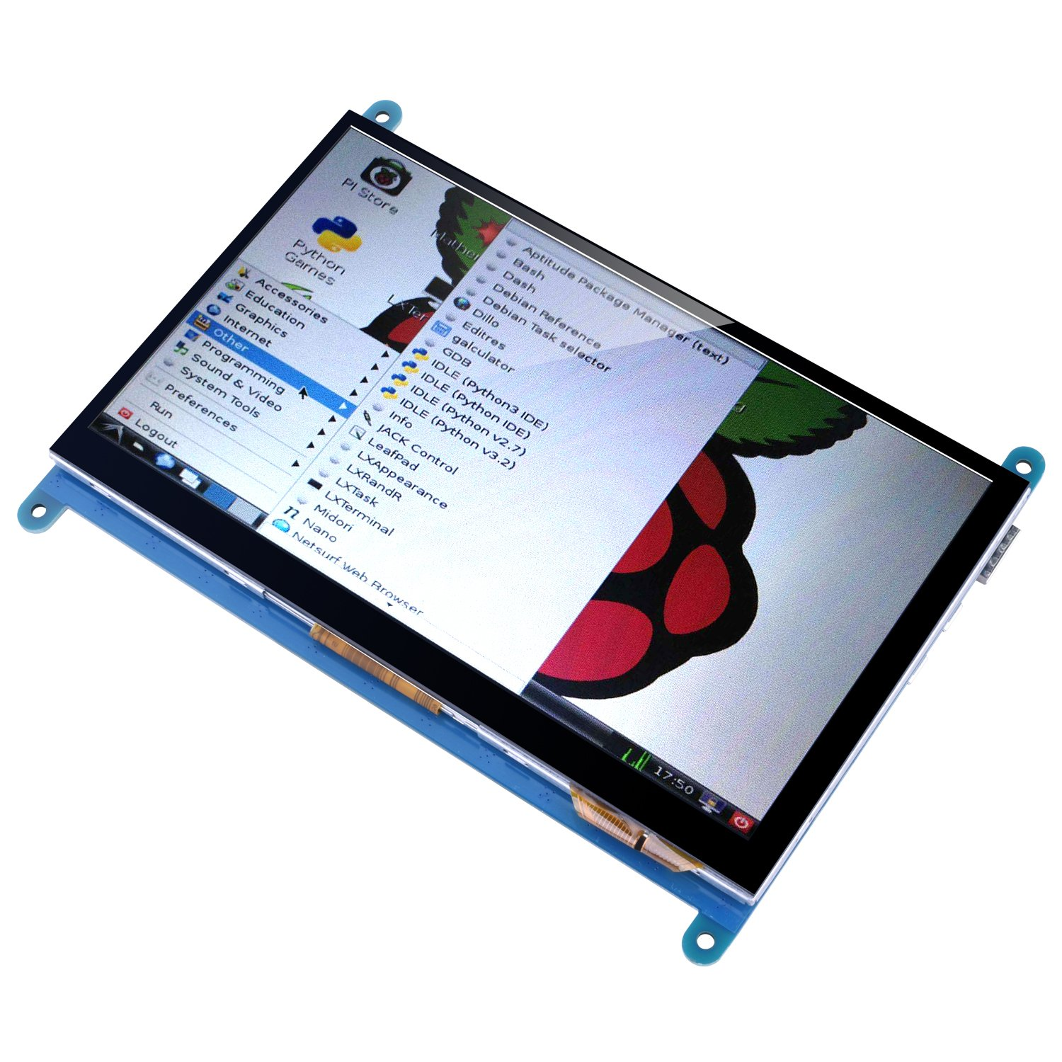 Kuman 7 Inch Capacitive Touch Screen TFT LCD Display HDMI Module 800x480 for Raspberry Pi 3 2 Model B and RPi 1 B+ A BB Black PC Various Systems SC7B (7 Inch Raspberry Pi Touch Screen) by Kuman (Image #2)