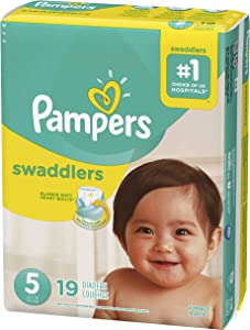 Pampers Pampers Swaddlers Diapers Size 5, 19 Count (Pack of 4)
