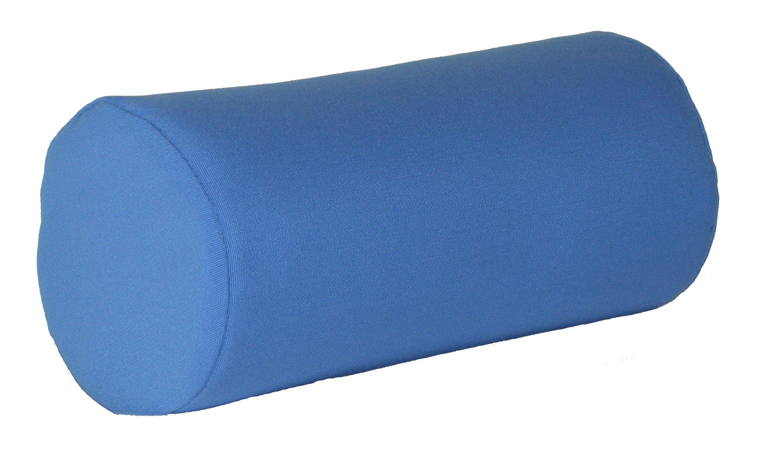 A & L Furniture Sundown Agora 7'' X 18'' Bolster Pillow, 7'' diam. 18'' Long, Light Blue