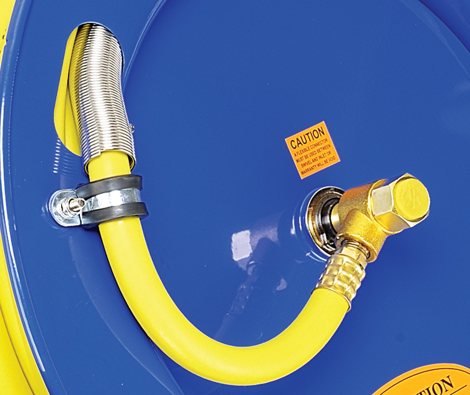 Goodyear L815153G Steel Retractable Air Compressor/Water Hose Reel with 3/8 in. x 50 ft. Rubber Hose, Max. 300PSI by Goodyear (Image #6)