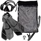 NAGA Sports Adult Snorkel Set - Choose your Size and Color