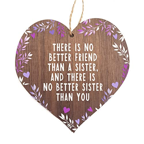 Sister Heart Best Sister Sign Thank You Gifts Christmas Birthday Gift Ideas For Best Friend Or Aunties Plaques With Sayings Amazon Co Uk Handmade