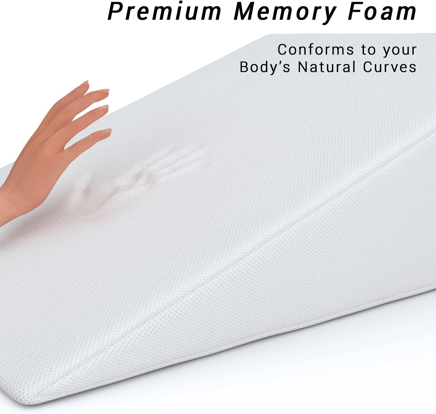 Specialty Medical Pillows Bed Wedge FitPlus Premium 1.5 Inches Memory Foam 2 X