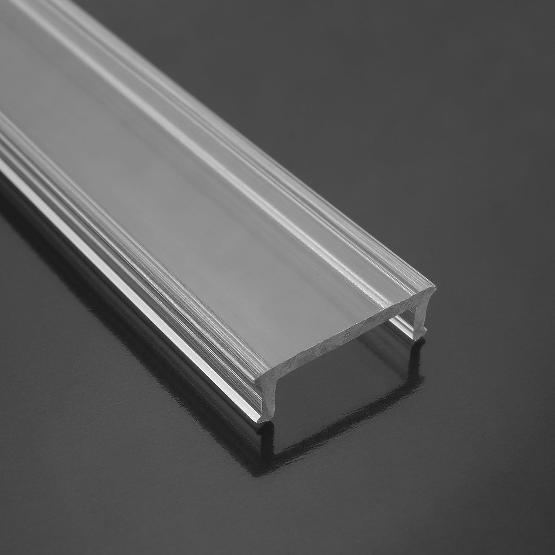 KLAR - 200 cm LED Aluminium Leisten EINBAU-KL + 200 cm transparent ...