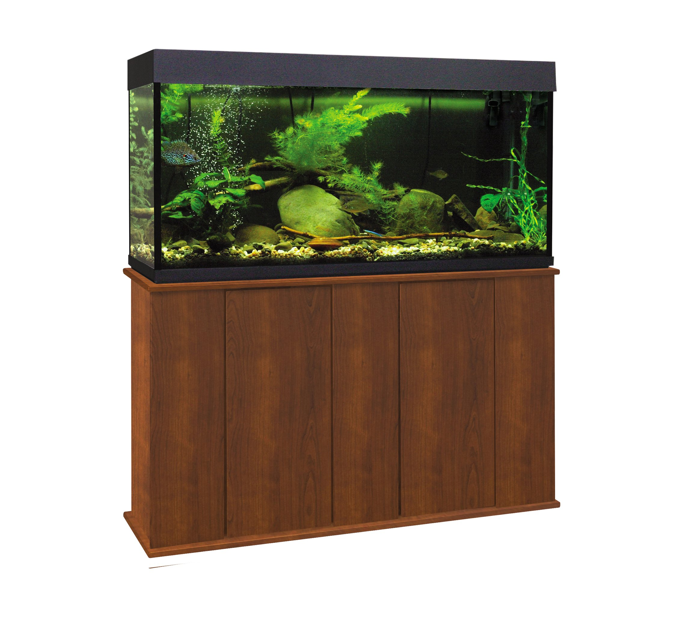 Aquatic Fundamentals 36551-68-AMZ 55 Gallon Upright Aquarium Stand, Serene Cherry