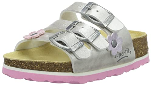 db7b8beb10 Superfit Fussbettpantoffel, Girls' Slippers, Silber (Silber 16), Large (26