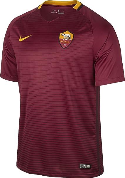 Maglia Sport Replica Rosso Home Tempo E Amazon Roma Nike 1617 it FrwFnC6q