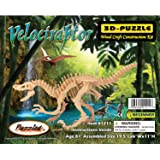 Puzzled Velociraptor Dinosaur 3D Woodcraft Construction Kit