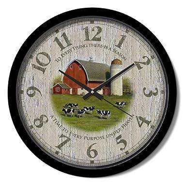Reflective Art 15  'Barn Classic Clock