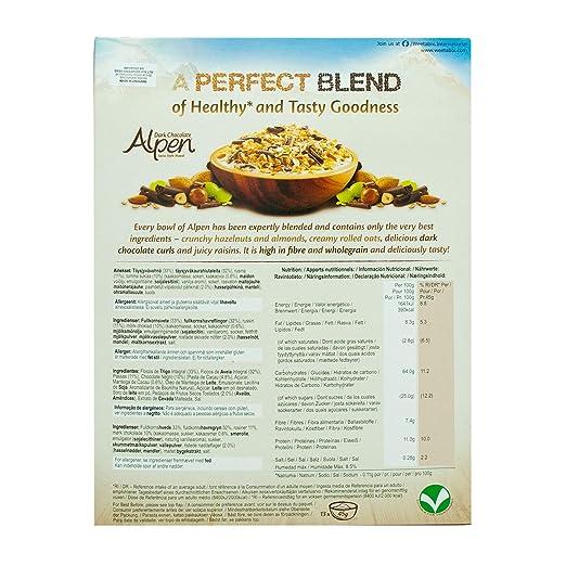 Amazon.com : Alpen The Swiss Recipe Dark Chocolate 625g - mit dunkler Schokolade nach original schweizer Rezept! : Grocery & Gourmet Food